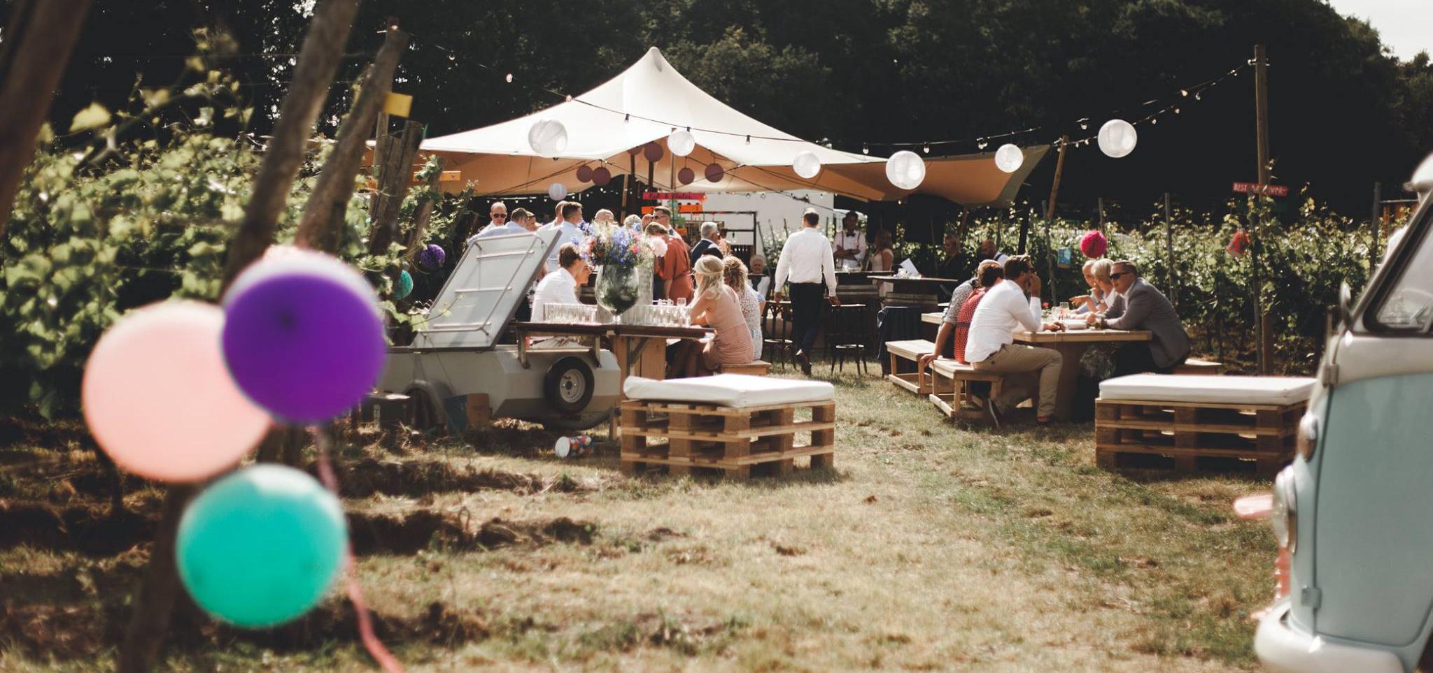 Locatie - Wijngaard Hof van Twente - Privé events - Bruiloft - Boenders Catering